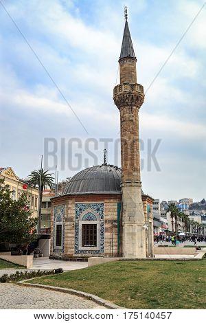 Konak mosque in konak square in Izmir Turkey