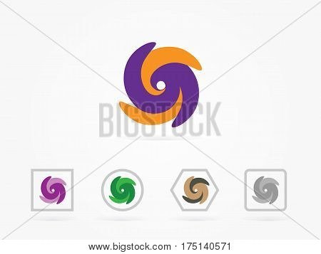 abstract symbol of letter s. template logo design