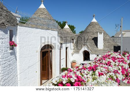 Beautiful Town Of Alberobello With Trulli Houses