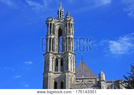 Exterior of the abbey in Laon, France