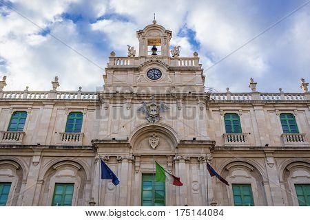 University of Catania building at University Square in Catania Sicily Italy