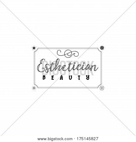 Beauty Salon Esthetician. A hand-made logo is a badge for your design