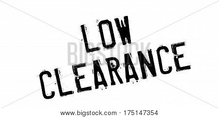 Low Clearance rubber stamp. Grunge design with dust scratches. Effects can be easily removed for a clean, crisp look. Color is easily changed.