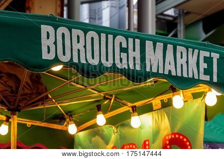 Sign Of Borough Market