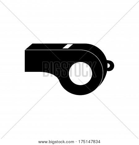 Referee whistle isolated icon vector illustration graphic design