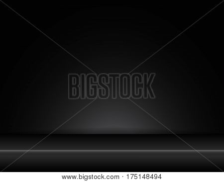room stylish studio black background with light effects vector copy space