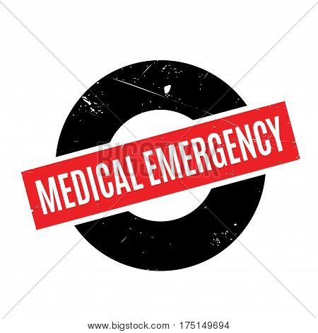 Medical Emergency rubber stamp. Grunge design with dust scratches. Effects can be easily removed for a clean, crisp look. Color is easily changed.