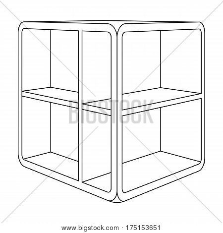 Small room coffee table.White table with cells.Bedroom furniture single icon in outline style vector symbol stock web illustration.