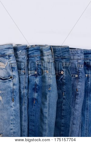 Set of jeans trouser