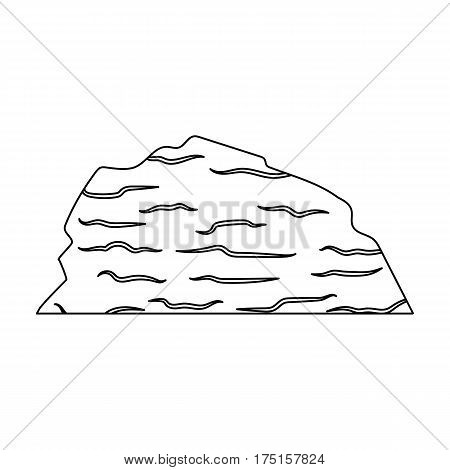 Sandy ceremony in wild west .Mountains of sand.Mountains in the desert.Different mountains single icon in outline style vector symbol stock web illustration.