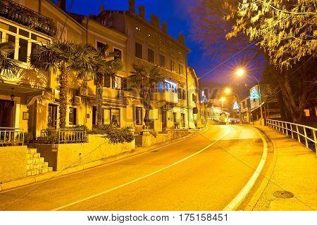 Town Of Lovran Streetevening View