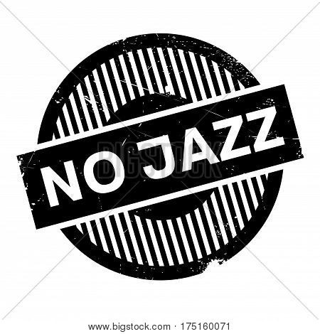 No Jazz rubber stamp. Grunge design with dust scratches. Effects can be easily removed for a clean, crisp look. Color is easily changed.