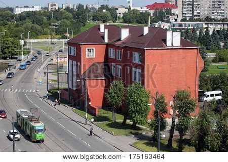 KALININGRAD, RUSSIA - AUGUST 21, 2011: The historic building of the Jewish orphanage. It was built in 1904 near Koenigsberg synagogue that was destroyed in 1938 during Kristallnacht.