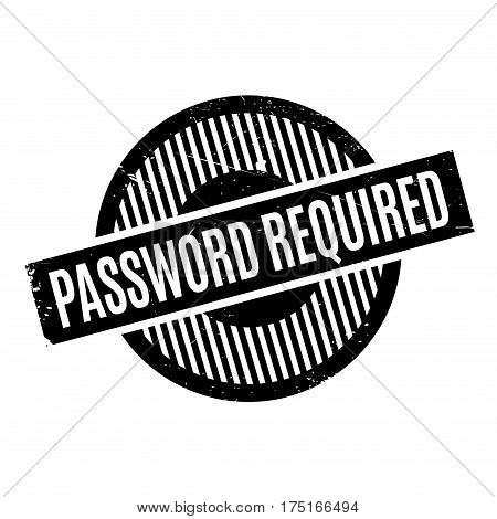 Password Required rubber stamp. Grunge design with dust scratches. Effects can be easily removed for a clean, crisp look. Color is easily changed.
