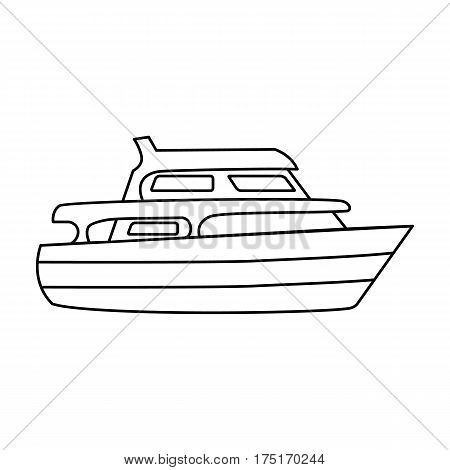 Recreational marine boat.Boat for a family holiday.Ship and water transport single icon in outline style vector symbol stock web illustration.