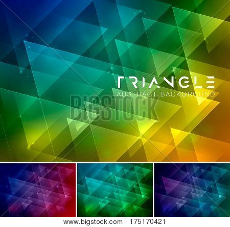 Triangle abstract background. Low poly and geometric vector background series suitable for design element and web background