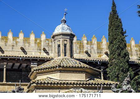 Cimborrio of the church of the Savior Ejea de los Caballeros Saragossa Spain