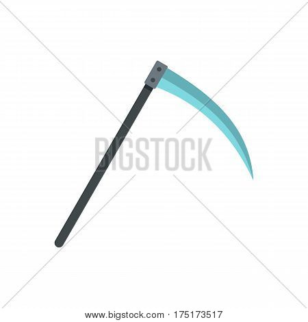 Scythe icon in flat style isolated on white background vector illustration