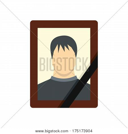 Memory portrait icon in flat style isolated on white background vector illustration