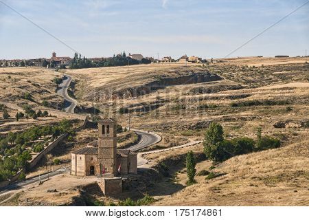 Segovia (Castilla y Leon Spain): landscape from the Alcazar at summer