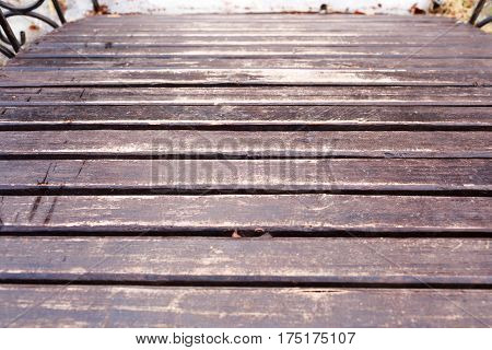 Wooden Boards Lie In A Row