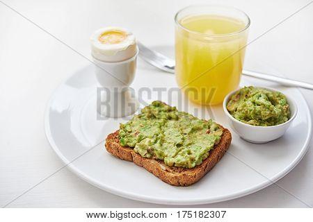 Breakfast With Avocado Toast