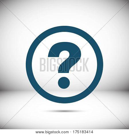 help icon stock vector illustration flat design