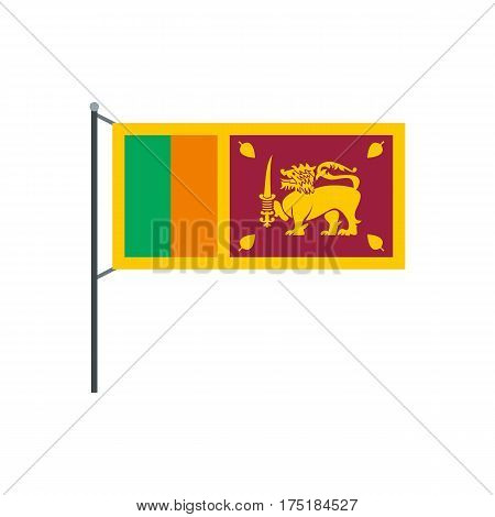 Sri Lanka flag icon in flat style isolated on white background vector illustration