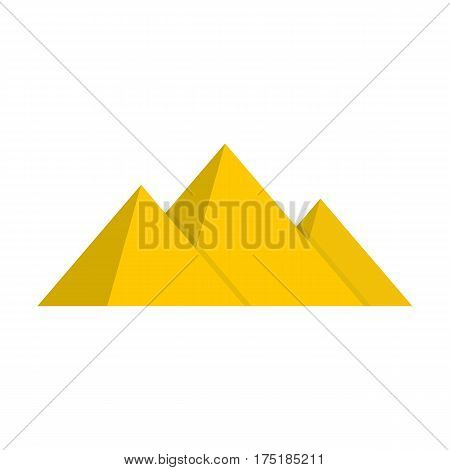 Pyramide icon in flat style isolated on white background vector illustration
