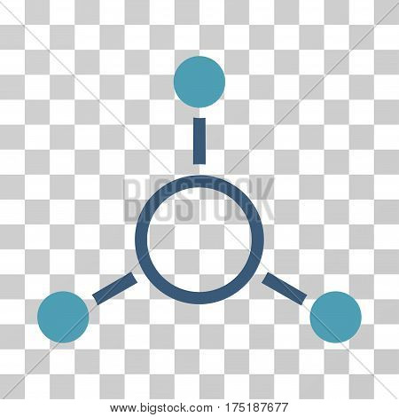 Radial Structure icon. Vector illustration style is flat iconic bicolor symbol cyan and blue colors transparent background. Designed for web and software interfaces.