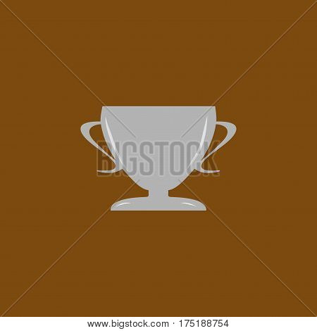 Cup reward. Modern symbol of victory and award achievement sport. Insignia ceremony awarding of winner tournament. Colorful template for badge tag etc. Design element. Vector illustration