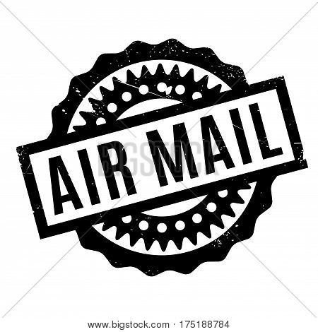 Air Mail rubber stamp. Grunge design with dust scratches. Effects can be easily removed for a clean, crisp look. Color is easily changed.