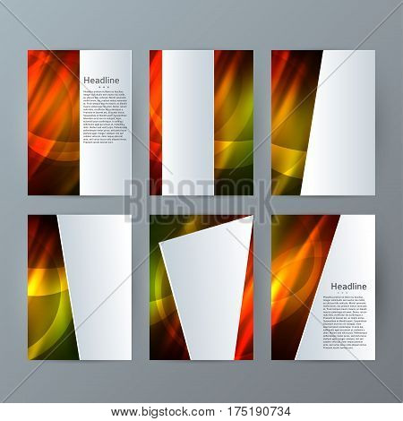 Set Templates Vertical Brochure Mockup Hot Glow Effect05