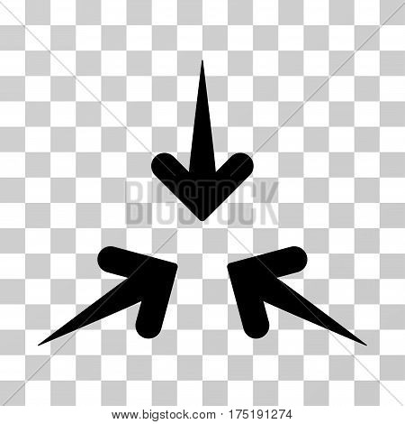 Impact Arrows icon. Vector illustration style is flat iconic symbol black color transparent background. Designed for web and software interfaces.