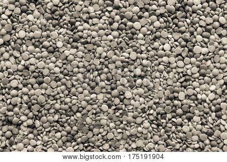 background and texture of dried shredded peas of monochrome tone of beige color