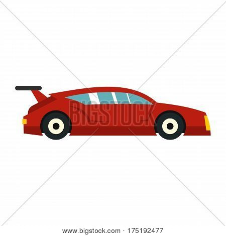 Red car icon in flat style isolated on white background vector illustration