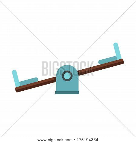 Seesaw on a playground icon in flat style isolated on white background vector illustration