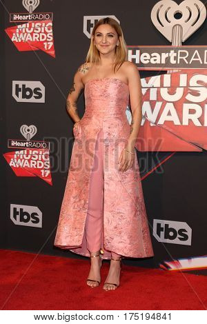 LOS ANGELES - MAR 5:  Julia Michaels at the 2017 iHeart Music Awards at Forum on March 5, 2017 in Los Angeles, CA
