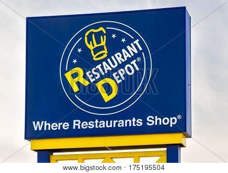Restaurant Depot Exterior Sign And Logo
