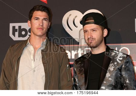 LOS ANGELES - MAR 5:  Timeflies, Cal Shapiro, Rob Resnick at the 2017 iHeart Music Awards at Forum on March 5, 2017 in Los Angeles, CA