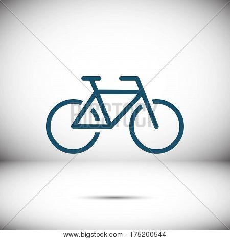 Bike icon stock vector illustration flat design