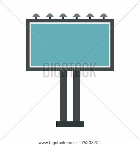 Advertising billboard icon in flat style isolated on white background vector illustration