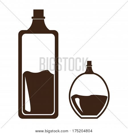 Isolated pair of lotion flaks, Vector illustration