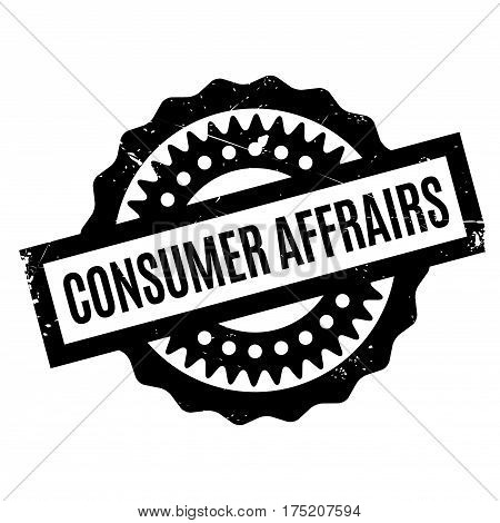 Consumer Affrairs rubber stamp. Grunge design with dust scratches. Effects can be easily removed for a clean, crisp look. Color is easily changed.