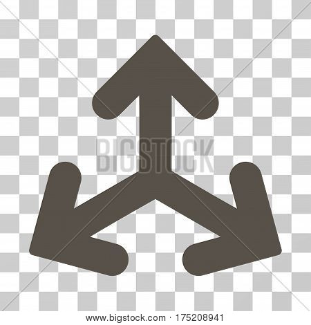 Direction Variants icon. Vector illustration style is flat iconic symbol grey color transparent background. Designed for web and software interfaces.