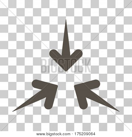 Impact Arrows icon. Vector illustration style is flat iconic symbol grey color transparent background. Designed for web and software interfaces.