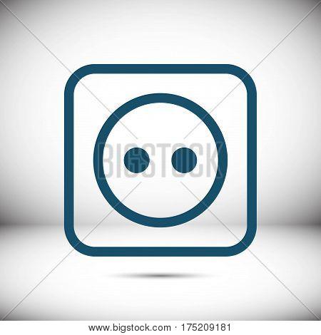 Euro socket icon stock vector illustration flat design