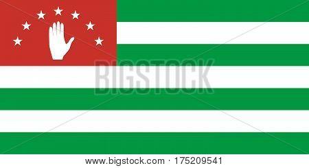 Official vector flag of Republic of Abkhazia .