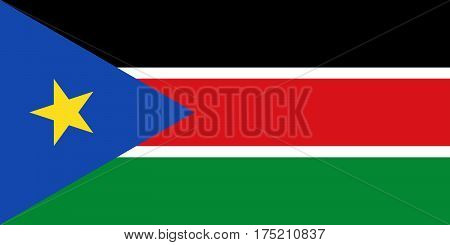 Official vector flag of Republic of South Sudan .