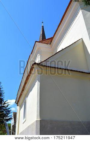 Fortified medieval saxon church in the village Crit-Kreutz, Transylvania, Romania